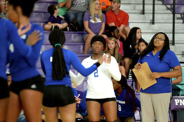 West Brook's head coach takes in the game action as they face Port Neches - Groves during their non-district match-up Tuesday in Port Neches. Photo taken Tuesday, August 15, 2017 Kim Brent/The Enterprise