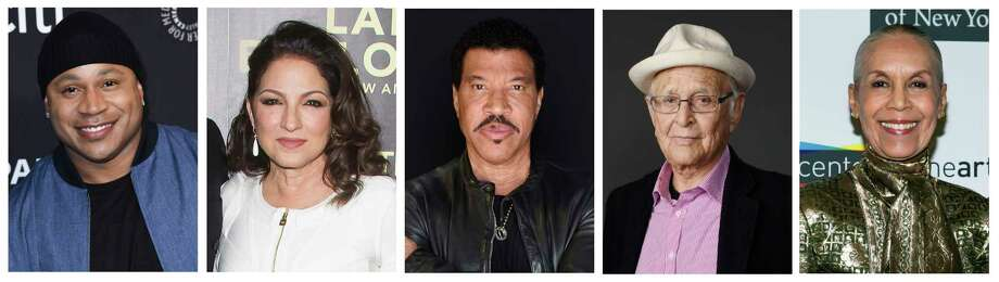 FILE - This combination photo shows, from left, musicians LL Cool J,  Gloria Estefan, Lionel Richie, TV producer Norman Lear and dancer Carmen de Lavallade who were named as recipients of the 2017 Kennedy Center Honors. The honorees will be celebrated at a gala on Dec. 3, featuring performances and tributes from top entertainers and attended by President Donald Trump and first lady Melania Trump. The show will be broadcast on Dec. 26 on CBS. (AP Photo/File) ORG XMIT: NYET402 / AP