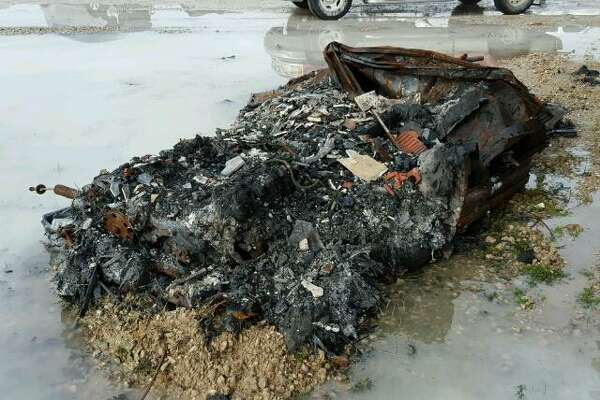 A destroyed Corvette in Houston is up for sale despite is being it being completely unrecognizable.