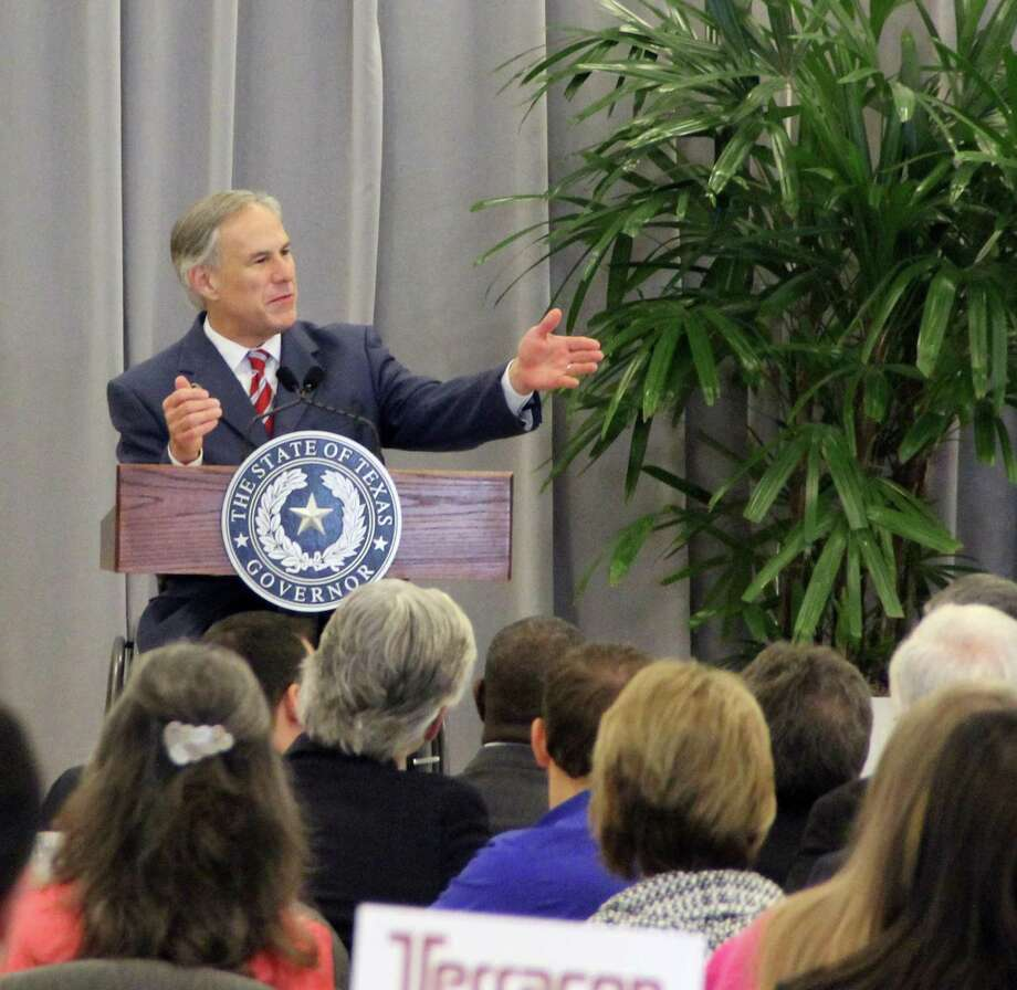 Gov. Greg Abbott speaks to community leaders in Brazoria in September. In a radio interview Wednesday, Abbott blamed House Speaker Joe Straus for the failure of several of Abbott's priority issues during the special session that ended Tuesday night. Straus has said some of the issues supported by the governor would adversely affect the Texas economy and hurt vulnerable people. Photo: /Kristi Nix / Kristi Nix