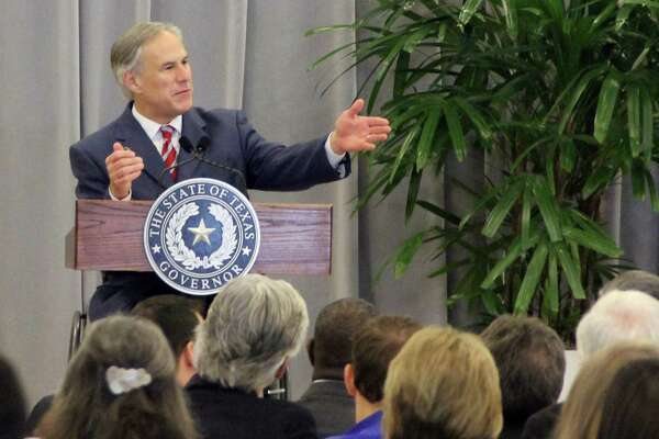 Gov. Greg Abbott speaks to community leaders in Brazoria in September. In a radio interview Wednesday, Abbott blamed House Speaker Joe Straus for the failure of several of Abbott's priority issues during the special session that ended Tuesday night. Straus has said some of the issues supported by the governor would adversely affect the Texas economy and hurt vulnerable people.