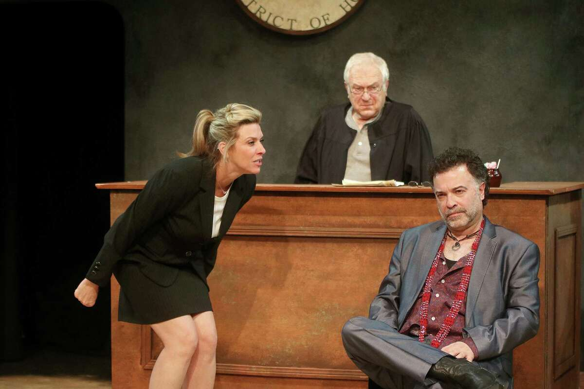 """Courtney Lomelo, Paul Menzel and Jeff Miller in """"The Last Days of Judas Iscariot"""""""