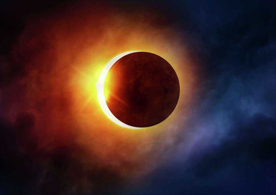 Catch the solar eclipse online Monday. Photo: Solar Eclipse Viewing Party At Children's Museum Of Houston, Contributor / solarseven