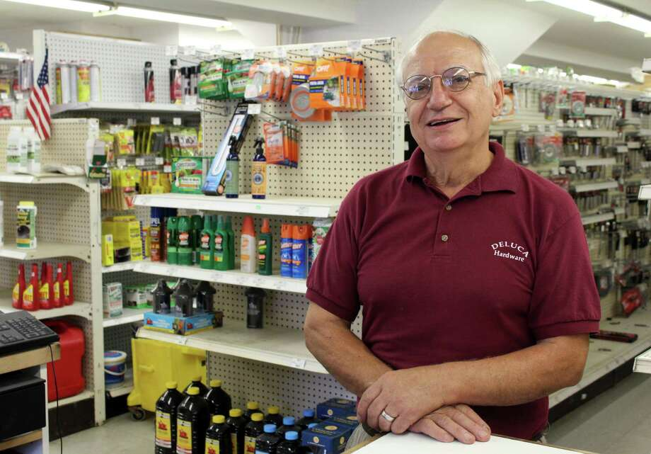 Juliano DeLuca plans on closing his family-run business, DeLuca Hardware, after 29 years. Photo: Stephanie Kim / Hearst Connecticut Media