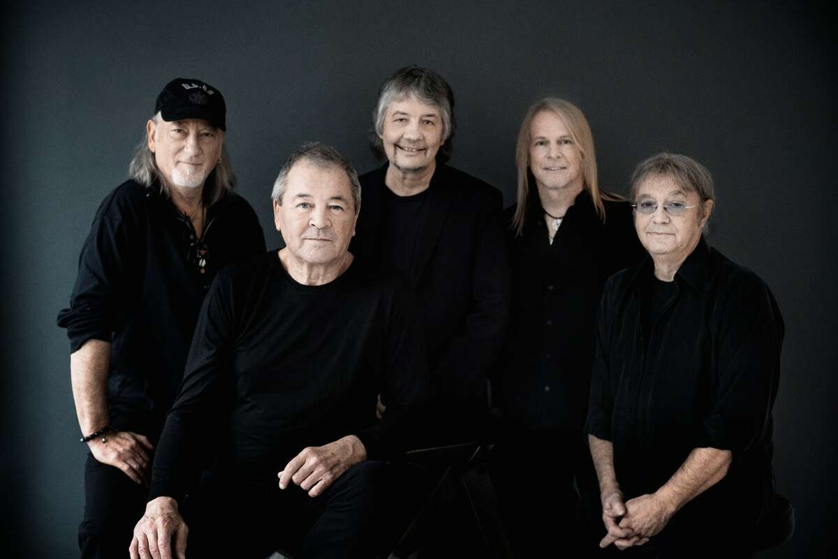 Deep Purple in 2017 features,from left, bassist Roger Glover, singer Ian Gillan, keyboardist Don Airey, guitarist Steve Morse and drummer Ian Paice