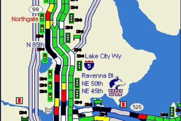 Traffic was backed up on major highways around Seattle Wednesday after a street closure downtown earlier in the morning.