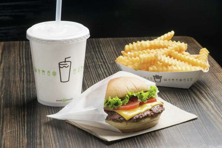 ShackBurger, fries and shake from Shake Shack. Photo: Evan Sung /Evan Sung Photography
