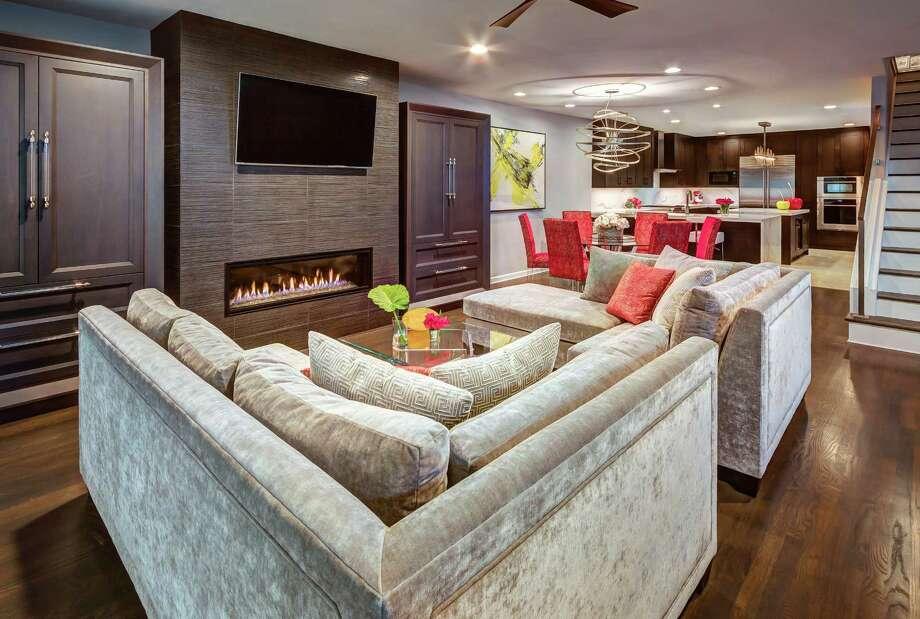 The living room in the Montrose home of Leesa White. Photo: Jeffrey Djayasaputra/Bayou City 360