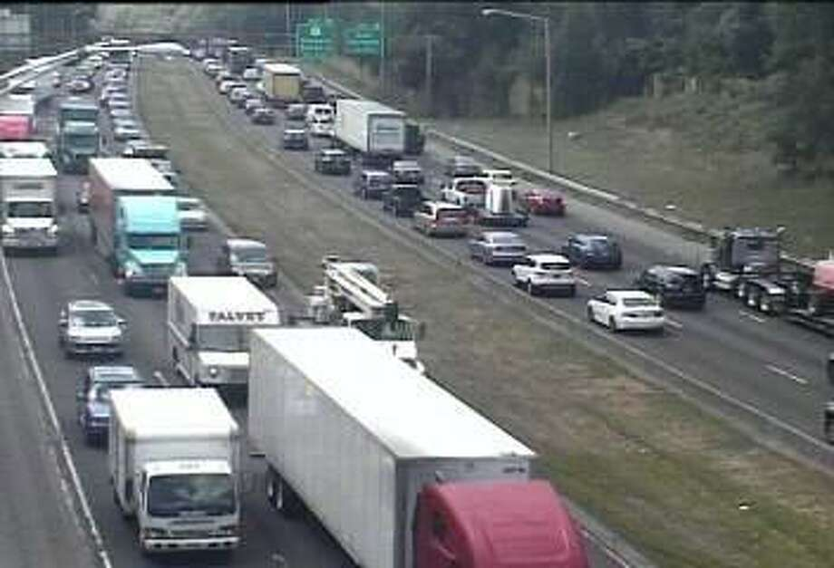 A pair of accidents on northbound and southbound I-95 closed lanes and brought traffic to a crawl on Wednesday, Aug. 16, 2017. Photo: /