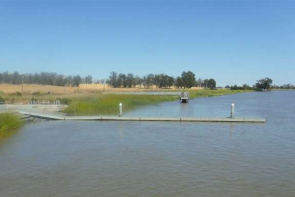Belden�s Landing is a staging area and access point with boat ramp and fishing pier located along Montezuma Slough a few miles from the entrance to Grizzly Island Wildlife Area
