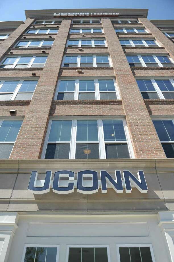 The new UConn Stamford dorm building in Stamford, Conn. Wednesday, Aug. 16, 2017. Gov. Dannel P. Malloy, UConn President Susan Herbst and others attended a grand opening and tour of the new residence hall, which will house nearly 300 students. The 116-unit building is located at 900 Washington Blvd., two blocks south of campus. Photo: Tyler Sizemore / Hearst Connecticut Media / Greenwich Time
