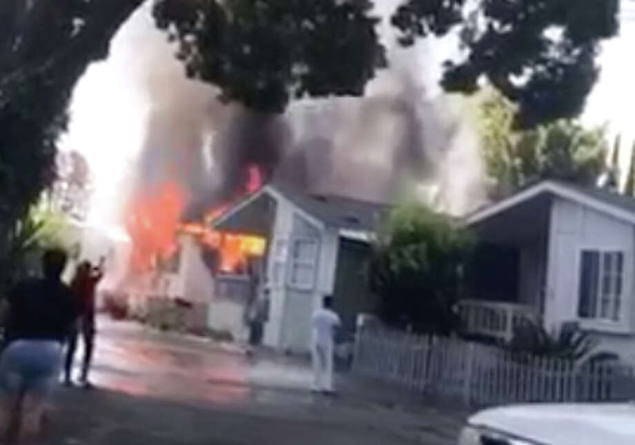 Three people, including two children, died at the Golden Wheel Mobile Home Park in San Jose on Tuesday. Photo: Courtesy Video