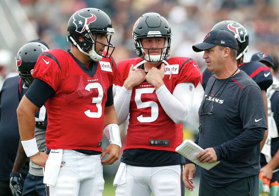 Tom Savage (3) will be the fourth different Week 1 starter in as many seasons for Texans coach Bill O'Brien. The previous three were all benched at some point during the season. Photo: Brett Coomer, Houston Chronicle / © 2017 Houston Chronicle}
