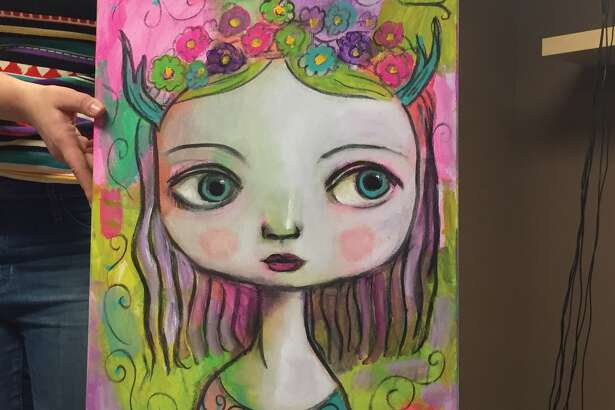 This piece of art by Felicia Olin will be available in the Children's Art Gallery at the Edwardsville Arts Center's annual Edwardsville Art Fair.