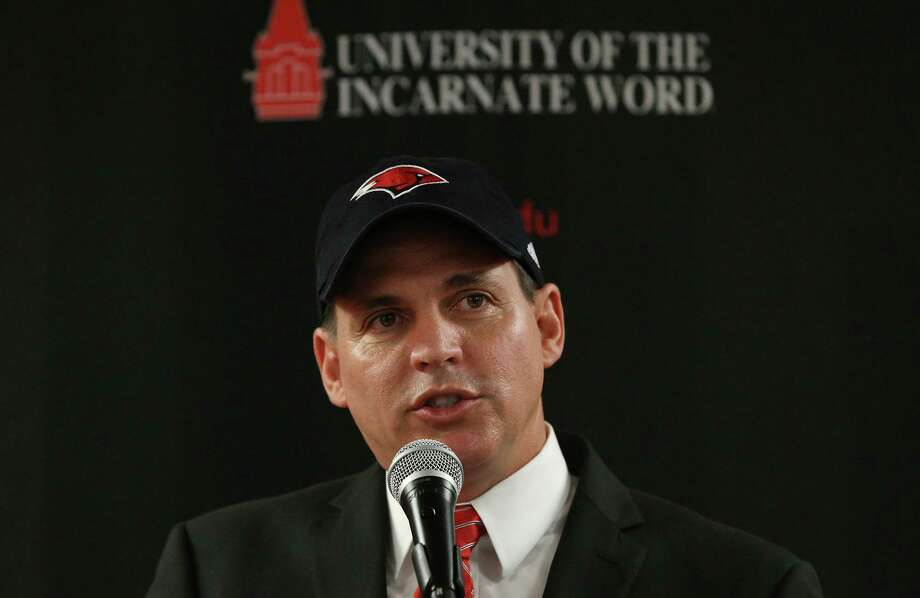 Brian Wickstrom speaks after it was announced Wednesday August 16, 2017 that he has become the University of the Incarnate Word's new athletic director. Wickstrom joins UIW's Cardinals after spending the last four years as director of athletics at the University of Louisiana Monroe. Wickstrom's career spans nearly 20 years in collegiate athletics and has worked at Ohio University, the University of Missouri, Santa Clara University, the University of Michigan, the University of Texas at El Paso and the University of California, Riverside. Photo: John Davenport,  STAFF / San Antonio Express-News / ©John Davenport/San Antonio Express-News