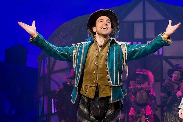 "From left: Rob McClure and Adam Pascal in SHN's ""Something Rotten!"""