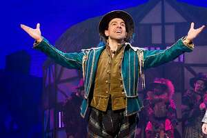 """From left: Rob McClure and Adam Pascal in SHN's """"Something Rotten!"""""""