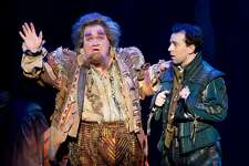 "From left:�Blake Hammond and Rob McClure in SHN's ""Something Rotten!"""