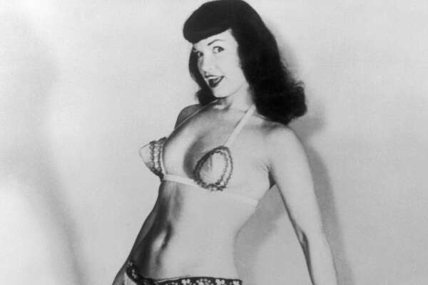 UNITED STATES - FIFTIES:  Portrait of the most legendary pin-up, Bettie Page. Born in 1923, Bettie Page was one of the stars most sought out by photographers. To this day, the Hollywood starlet remains worshipped.  (Photo by Keystone-France/Gamma-Keystone via Getty Images)