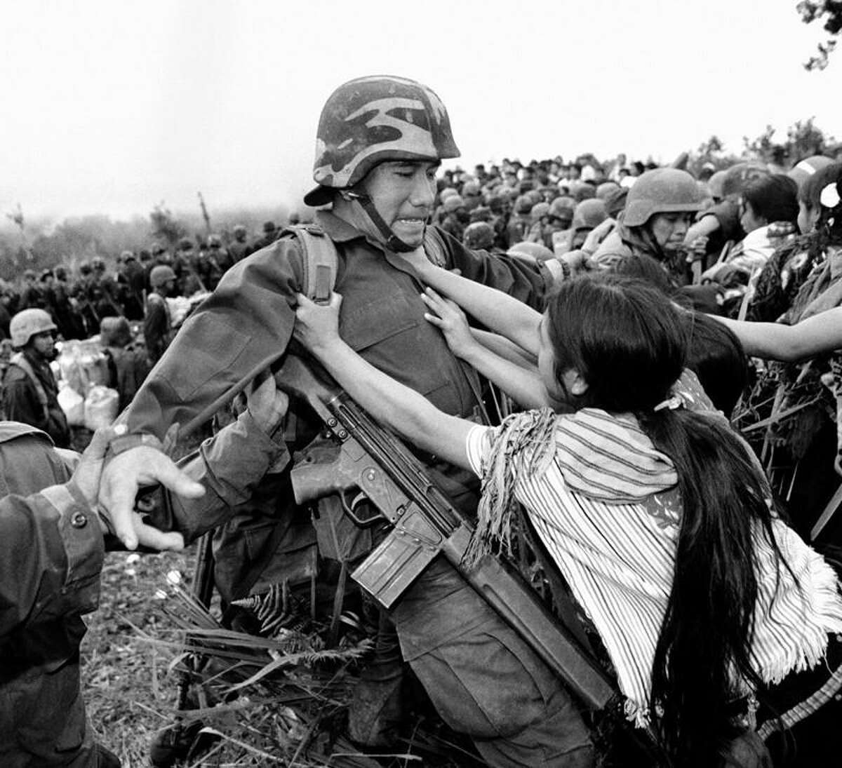 """Mexico City-based photographer Pedro Valtierra specializes in capturing iconic moments from Mexico's modern history. His work is featured in """"Imagenes En Conflicto,"""" a solo exhibit at the Mexican Cultural Institute. The show is part of Fotoseptiembre USA."""