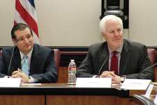 U.S. Senators John Cornyn and Ted Cruz, shown here speaking at Rice University earlier this month, should reconsider their ardor for free-market solutions to health care.