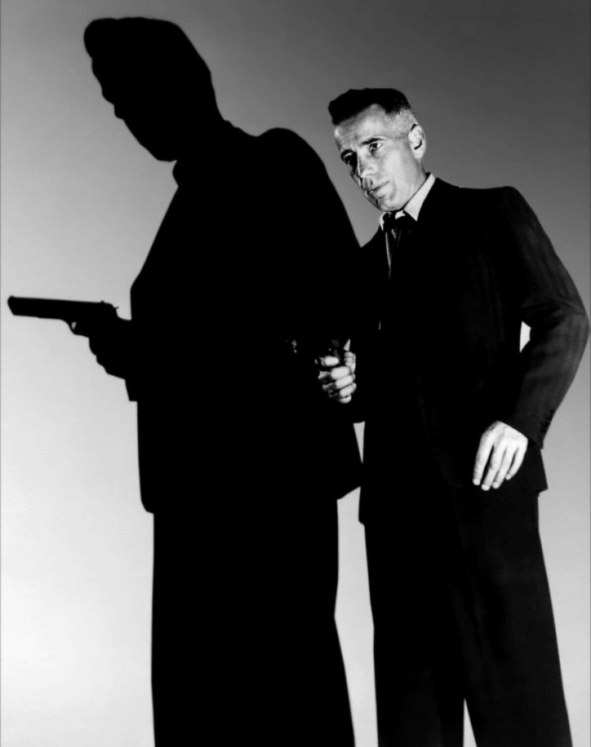 """Humphrey Bogart in a promotional still for Raoul Walsh's 1941 proto-noir """"High Sierra"""", playing at the Stanford Theatre this summer at the Warner Bros. retrospective."""