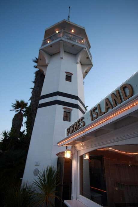 The lighthouse at Forbes Island in San Francisco, Calif., on Thursday, July 1, 2010. Photo: Liz Hafalia / The Chronicle