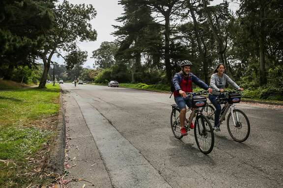 People bike on Martin Luther King Jr. Drive between Lincoln Blvd and Bernice Rodgers Way in San Francisco, Calif., on Wednesday, Aug. 16, 2017.