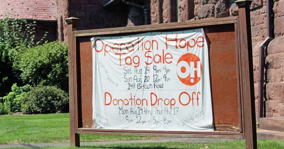 """Operation Hope's """"Really Big Tag Sale"""" will take place this weekend at First Church Congregational, 148 Beach Road. Fairfield,CT. 8/16/17 Photo: Genevieve Reilly / Hearst Connecticut Media / Fairfield Citizen"""