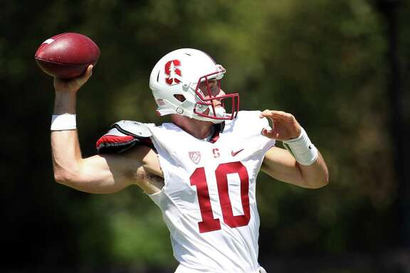 "Stanford quarterback Keller Chryst, coming off knee surgery, says he's ""a full go"" to play."
