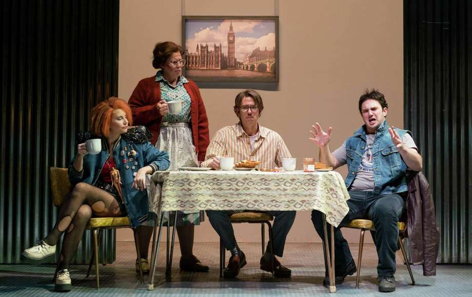 """Caroline Worra, of Stamford, second from left, performs last year in Boston Lyric Opera's production of """"Greek,"""" by Mark-Anthony Turnage, along with Amanda Crider, Christopher Burchett and Marcus Farnsworth. Photo: Nile Hawver / Contributed Photo / Nile Hawver"""