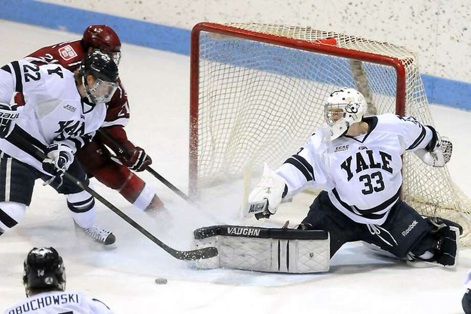 Yale goalie Jeff Malcolm (33). (Mara Lavitt/Register file photo)