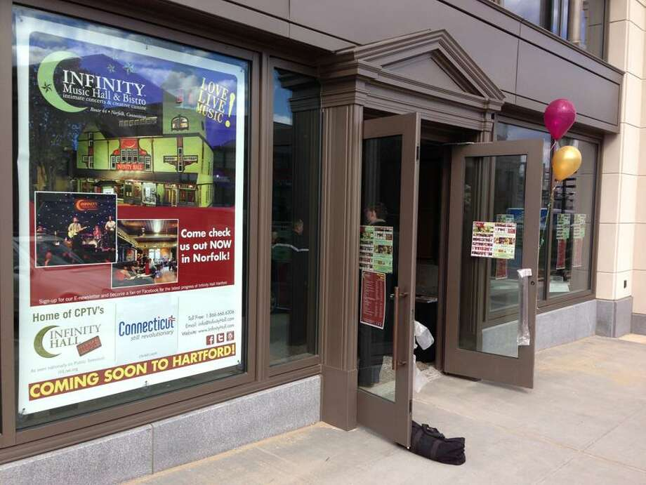 Joe Amarante/Register photo: The Front Street entrance of the new Infinity Hall Music Hall in Hartford. The venue will open in late 2013 or early 2014.