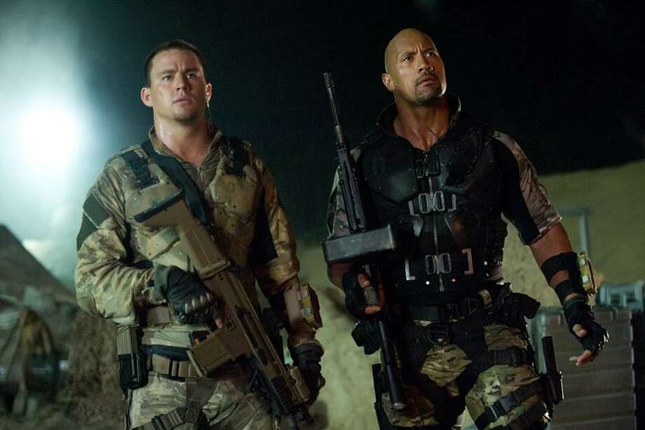 "Jaimie Trueblood/Paramount Pictures photo: Ray Park, left, with our  hero Dwayne Johnson in ""G.I. Joe: Retaliation."" Photo: AP / AP2011"