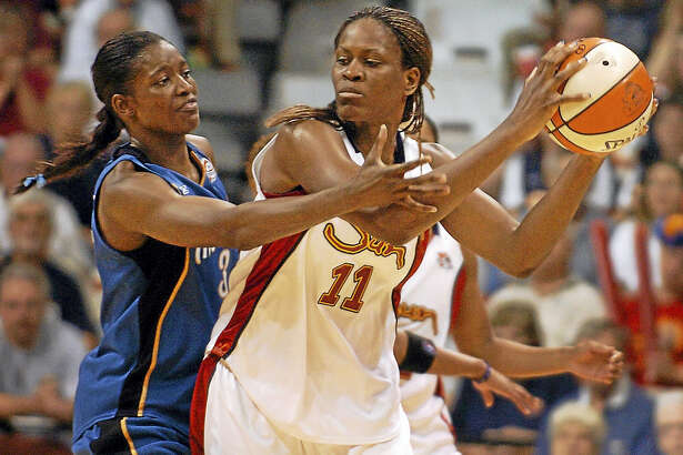 Taj McWilliams-Franklin, seen here in 2006 playing for the Sun iand now an assistant coach with the Dallas Wings, is happy to see her old team doing so well.