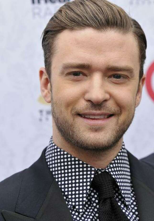 "Singer Justin Timberlake arrives at his iHeartRadio ""The 20/20 Experience"" album release party at the El Rey Theatre on Monday, March 18, 2013 in Los Angeles. (Photo by Dan Steinberg/Invision/AP) Photo: Dan Steinberg/Invision/AP / Invision"