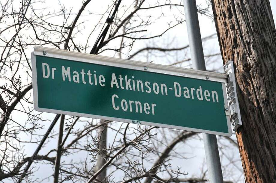 "New Haven-- Dr. Mattie Atkinson-Darden corner on the corner of Goffe and Sperry Streets.  Photo-Peter Casolino/Register <a href=""mailto:pcasolino@newhavenregister.com"">pcasolino@newhavenregister.com</a>"