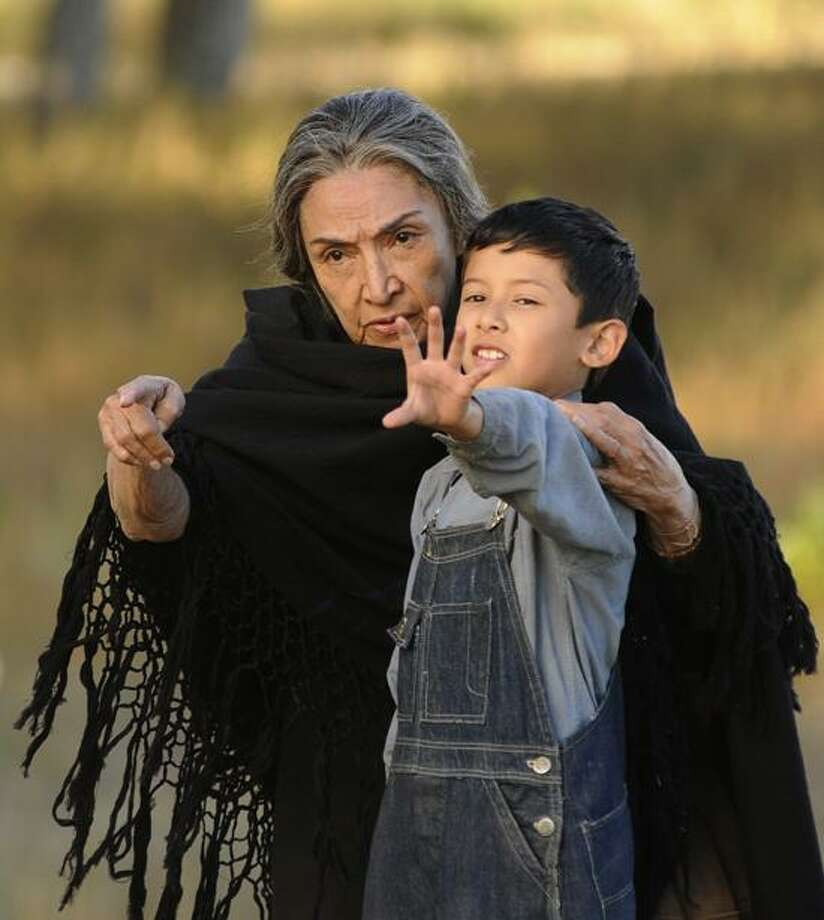 "Arenas Entertainment photo: Luke Ganalon and Miriam Colon as Ultima weave a magical coming-of-age tale in ""Bless Me, Ultima."" Photo: AP / Arenas Entertainment"