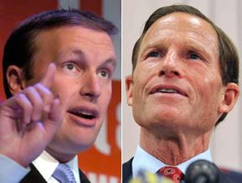 Connecticut Sens. Murphy, left, and Blumenthal