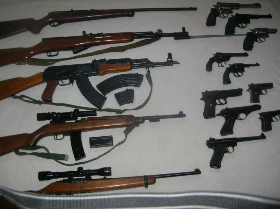 A photo of an assortment of guns was posted on John Montysko's Facebook page.