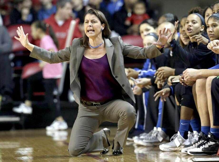 Duke head coach Joanne P. McCallie. (AP Photo/Gerry Broome) Photo: AP / AP2013