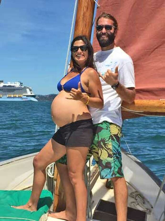 Lila Shaked became pregnant while traveling across the Pacific with her partner, Chris Jahn. Photo: Lila Shaked, Latitude 38