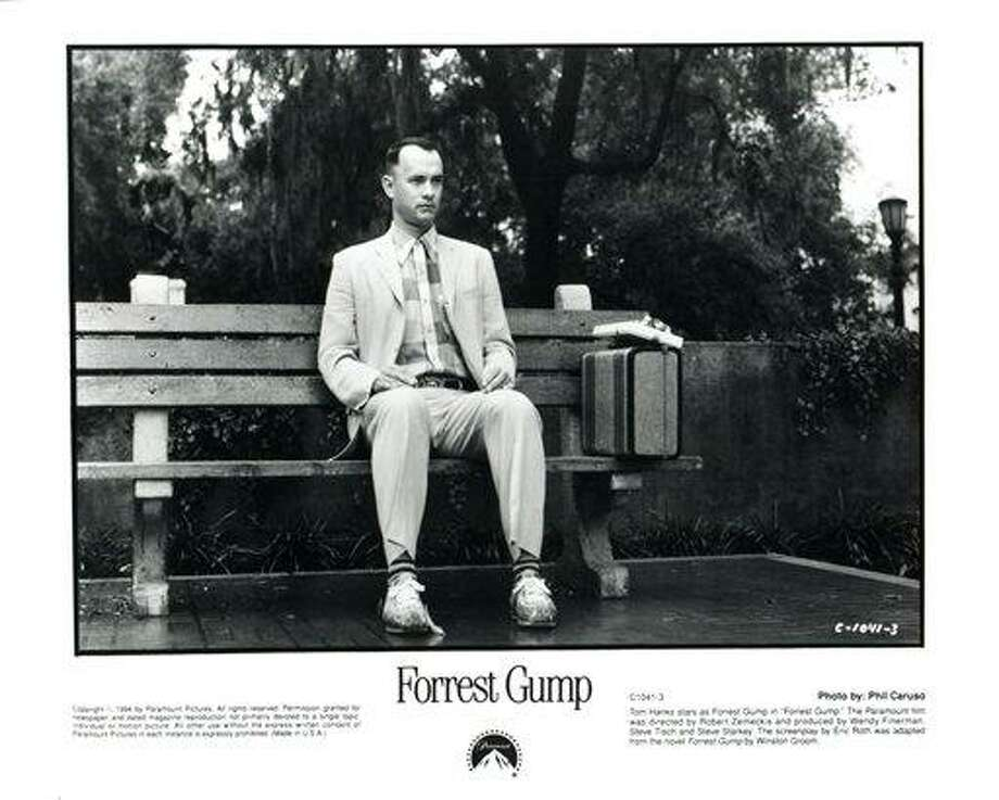 This undated black-and-white handout photo provided by Paramount and the Library of Congress shows Tom Hanks staring as Forrest Gump. Bambi, Forrest Gump and Hannibal Lecter have at least one thing in common: Their cinematic adventures were chosen by the Library of Congress to be preserved in the world's largest archive of film, TV and sound recordings. (AP Photo/Paramount, Library if Congess) Photo: ASSOCIATED PRESS / AP2011