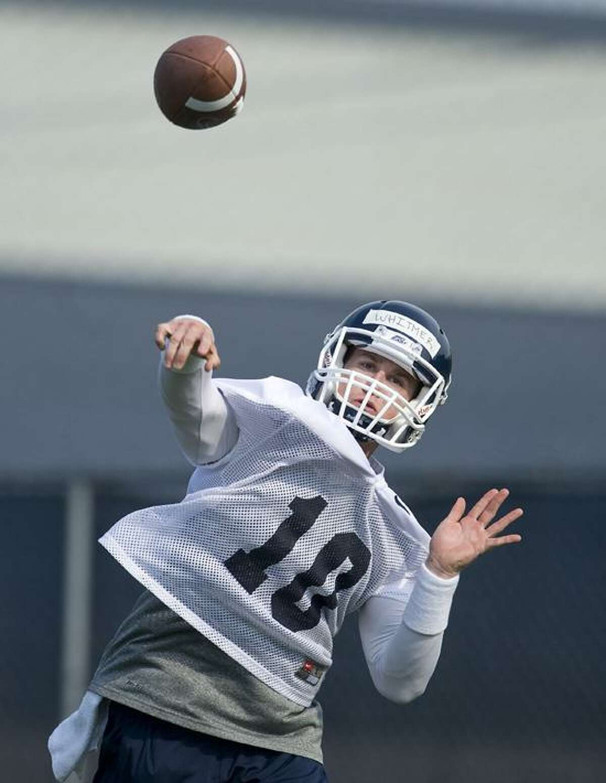 UConn quarterback Chandler Whitmer (AP Photo/Jessica Hill)