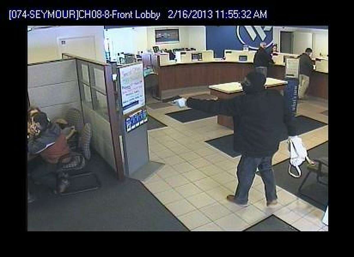 Here is robber of Seymour's Webster Bank.