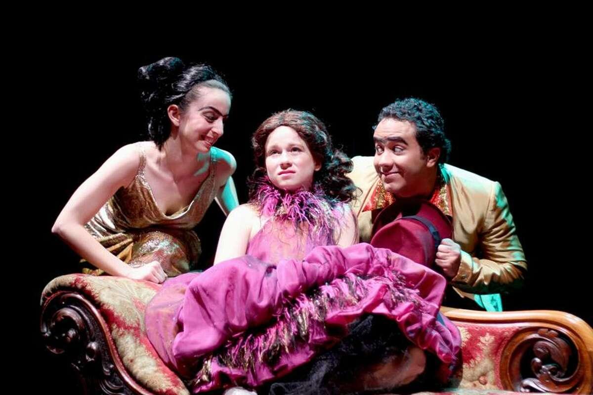 Peter Chenot photo: Madison's Juliet Brett, center, plays Iris, here with Ilayda Muftuoglu and Jesse Gabbard.
