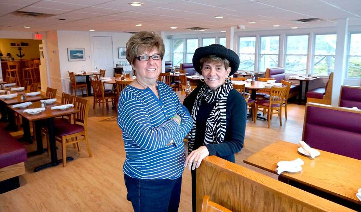 East Haven-- Co-owners Cindy Fucci, left, and Barbara Bucci have rebuilt their restaurant, the Beach Head, after Irene and Sandy both heavily damaged the popular eatery. Photo-Peter Casolino/Register pcasolino@newhavenregister.com