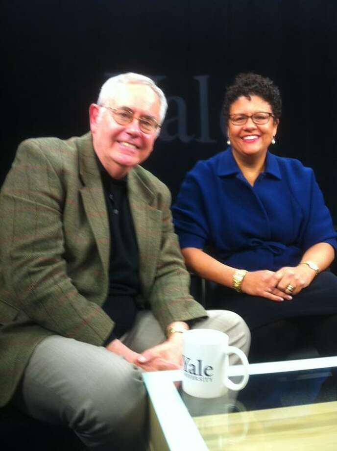 """Yale University professor and poet Elizabeth Alexander, right, and Yale theater historian Joseph Roach took part in an online Yale video even this week, """"The Art of Inauguration."""" Alexander will be on hand as a spectator for President Barack Obama's second inaugural Monday."""