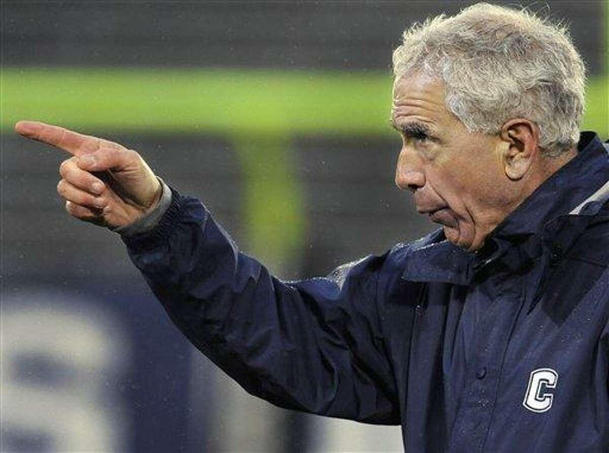 Connecticut head coach Paul Pasqualoni. (AP Photo/Jessica Hill)