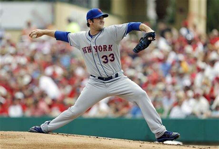 New York Mets starting pitcher Matt Harvey throws during the first inning of an exhibition spring training baseball game against the St. Louis Cardinals Monday, March 18, 2013, in Jupiter, Fla. (AP Photo/Jeff Roberson) Photo: AP / AP